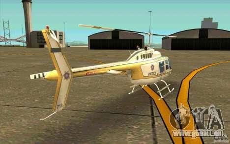 Bell 206 B Police texture4 pour GTA San Andreas vue de droite