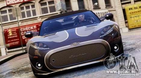 Spyker C8 Aileron Spyder Final pour GTA 4 est un côté