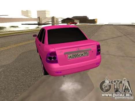 Lada Priora Emo pour GTA San Andreas sur la vue arrière gauche