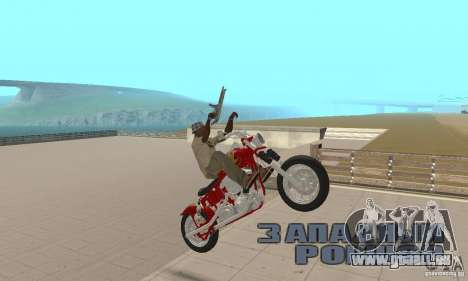 Orange County old school chopper Sunshine für GTA San Andreas rechten Ansicht