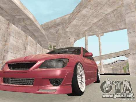 Lexus IS300 HellaFlush für GTA San Andreas Innenansicht