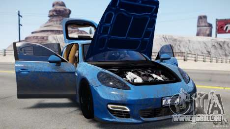 Porsche Panamera Turbo 2010 Black Edition pour GTA 4 est une gauche