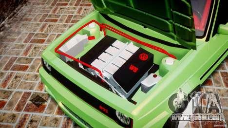 Volkswagen Golf II W8 pour GTA 4 est une vue de l'intérieur