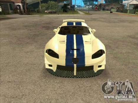 Dodge Viper from MW pour GTA San Andreas vue arrière