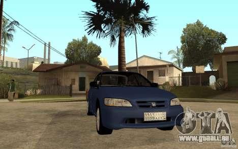 Honda Accord 2001 beta1 pour GTA San Andreas vue arrière
