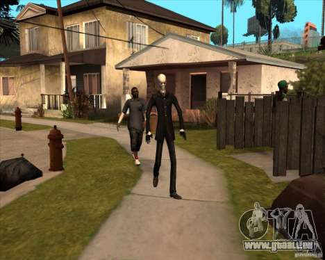 Slender en lunettes noires pour GTA San Andreas sixième écran