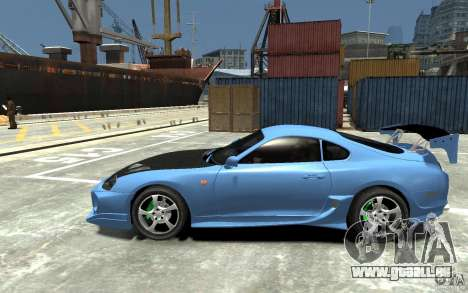 Toyota Supra Black Tuning für GTA 4 linke Ansicht