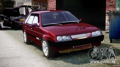 Vaz-2109 Samara 1999 pour GTA 4 est une vue de l'intérieur