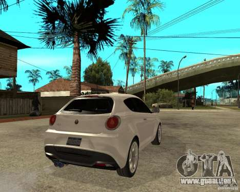 Alfa Romeo Mito pour GTA San Andreas sur la vue arrière gauche
