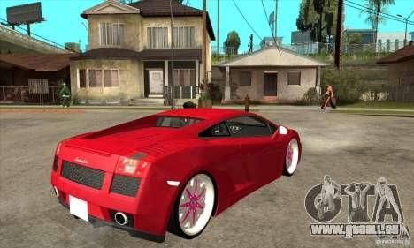 Lamborghini Gallardo White & Pink für GTA San Andreas rechten Ansicht