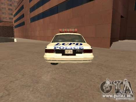 Die Polizei von GTA4 für GTA San Andreas zurück linke Ansicht