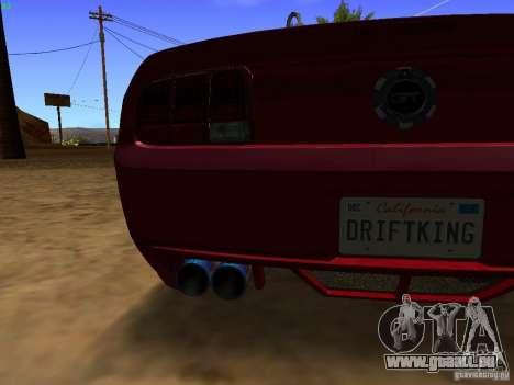 Ford Mustang GT 2005 Tuned für GTA San Andreas Innenansicht