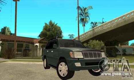 Toyota Land Cruiser 100vx v2.1 pour GTA San Andreas vue intérieure