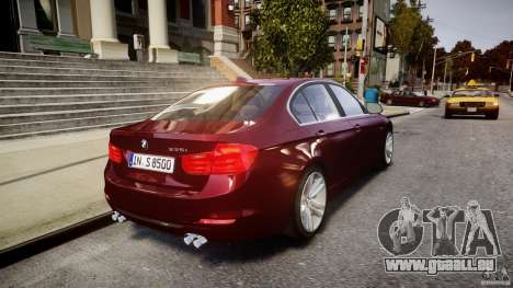 BMW 335i 2013 v1.0 für GTA 4 Unteransicht