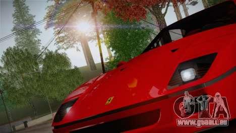 Ferrari F40 1987 für GTA San Andreas zurück linke Ansicht