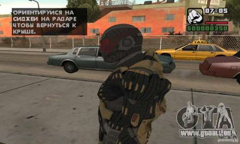 Crysis skin pour GTA San Andreas deuxième écran