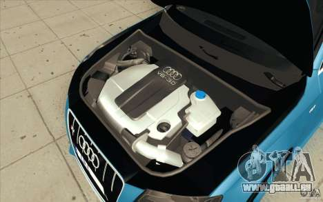 Audi S4 2009 pour GTA San Andreas vue de dessous