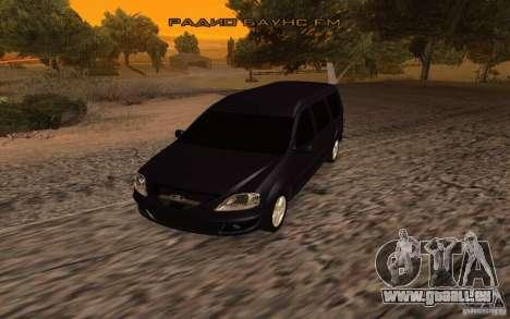 Lada Largus für GTA San Andreas zurück linke Ansicht