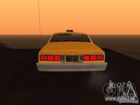 Chevrolet Caprice 1986 Taxi pour GTA San Andreas vue de droite