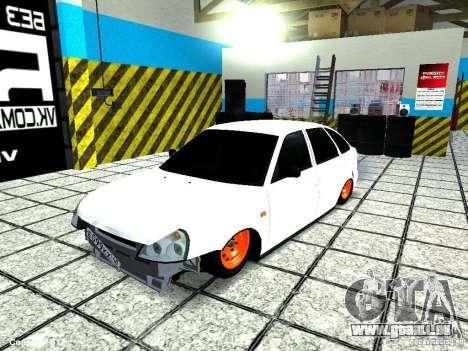 Lada 2170 Priora pour GTA San Andreas vue intérieure