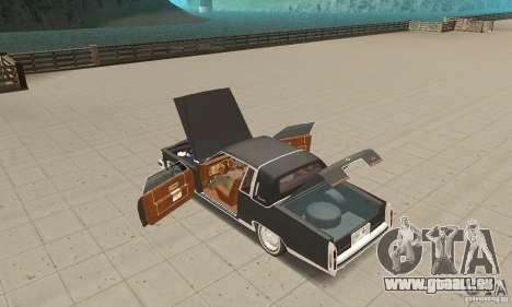 Cadillac Coupe DeVille 1985 pour GTA San Andreas vue intérieure