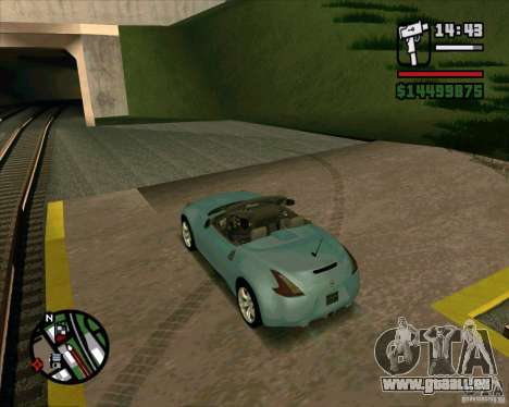 Nissan 370Z Roadster pour GTA San Andreas laissé vue