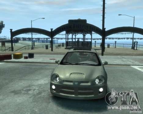 Dodge Neon 02 SRT4 pour GTA 4 Vue arrière