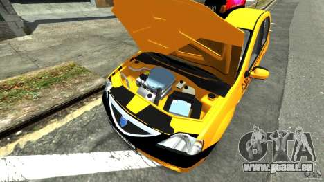 Dacia Logan Prestige Taxi für GTA 4 Rückansicht