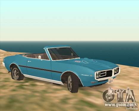 Pontiac Firebird Conversible 1966 für GTA San Andreas zurück linke Ansicht