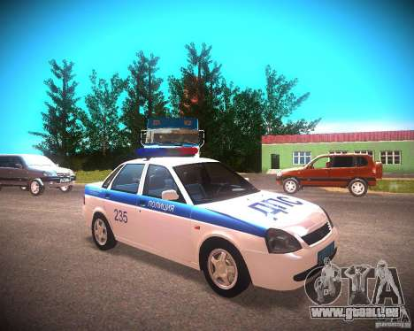 LADA Priora 2170 DPS pour GTA San Andreas sur la vue arrière gauche