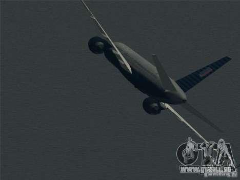 Boeing 757-200 United Airlines pour GTA San Andreas vue de dessus