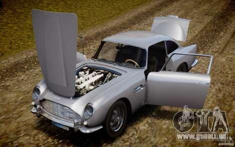 Aston Martin DB5 1964 pour GTA 4 vue de dessus