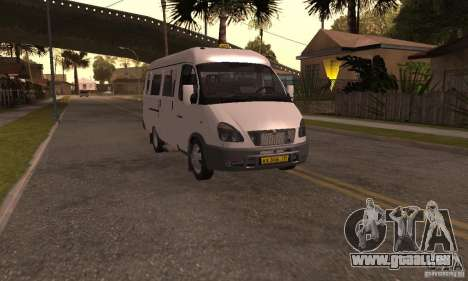 Gazelle 32213 Nowosibirsk Minibus für GTA San Andreas