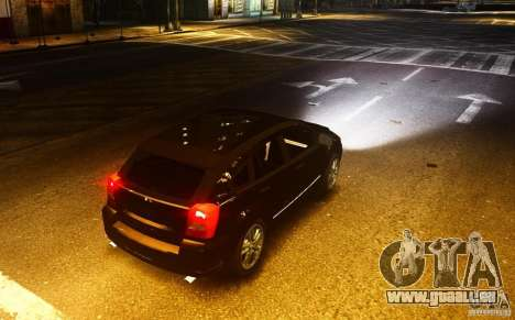 Dodge Caliber pour GTA 4 Vue arrière