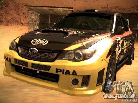 Subaru Impreza Gravel Rally pour GTA San Andreas salon