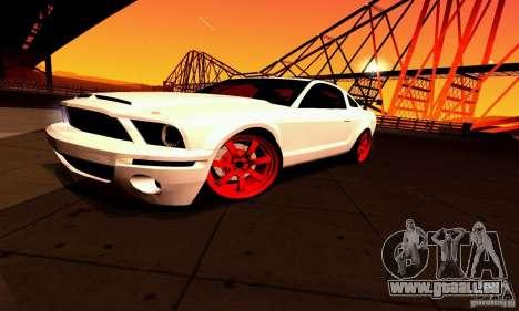 Shelby GT500 KR pour GTA San Andreas vue de dessous