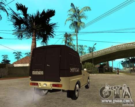 IZH 2715 « Moskvich » pour GTA San Andreas sur la vue arrière gauche