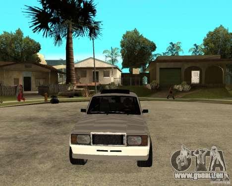 VAZ 2107 Light Tuning v2.0 pour GTA San Andreas vue arrière