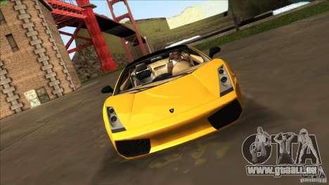 Lamborghini Gallardo SE pour GTA San Andreas vue de droite