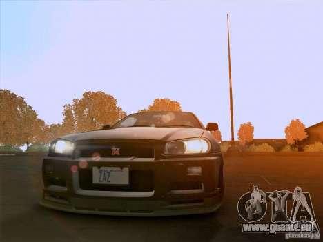 Nissan Skyline GTR R34 pour GTA San Andreas vue de droite