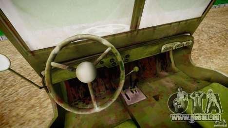Jeep Willys [Final] für GTA 4 Rückansicht