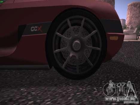Koenigsegg CCX 2006 für GTA San Andreas Seitenansicht
