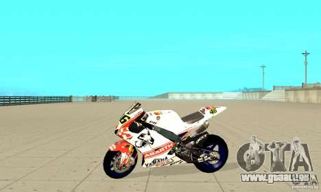 Honda Valentino Rossi Pcj600 für GTA San Andreas linke Ansicht