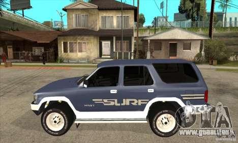 Toyota Surf v1.0 pour GTA San Andreas laissé vue