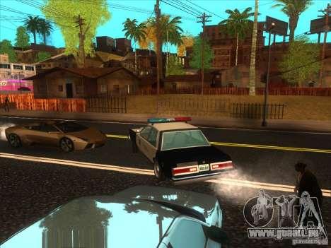 Dodge Diplomat 1985 LAPD Police pour GTA San Andreas sur la vue arrière gauche