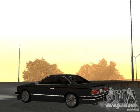 BMW M6 E24 pour GTA San Andreas sur la vue arrière gauche