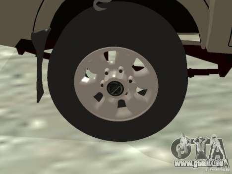 Nissan Frontier für GTA San Andreas obere Ansicht