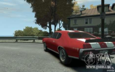 Pontiac GTO Hardtop 1968 v1 für GTA 4 hinten links Ansicht
