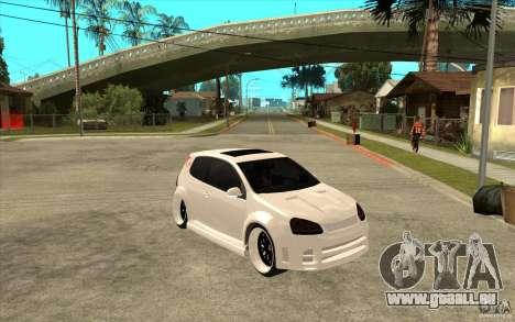 VW Golf 5 GTI Tuning pour GTA San Andreas vue arrière