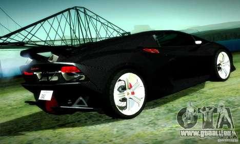 Lamborghini Sesto Elemento pour GTA San Andreas vue intérieure